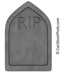 3d Render of a Tombstone Isolated on White