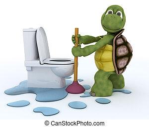 tortoise plumbing contractor - 3D render of a tortoise...