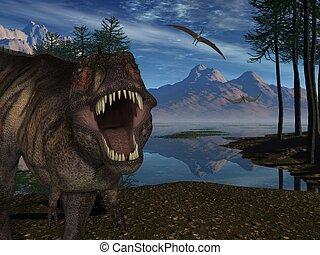 3D render of a Tyrannosaurus Rex- 3D Dinosaur
