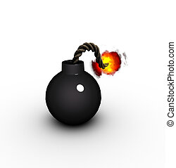 3d render of a vintage cartoon style pirate bomb