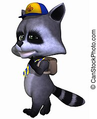 Cute Pet - Raccoon - 3D Render of an Cute Pet - Raccoon