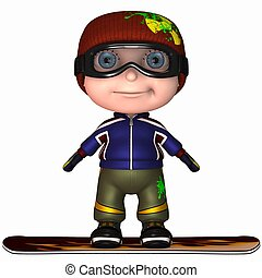 Cute Snowboard Kid