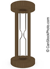 3d Render of an Empty Hourglass