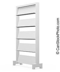 3d Render of an Empty Magazine Shelf
