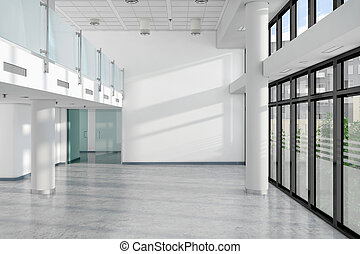 3d render of an empty office building