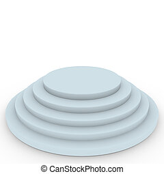 3d Render of an Empty Podium on White