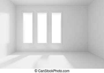 3d render of an empty room