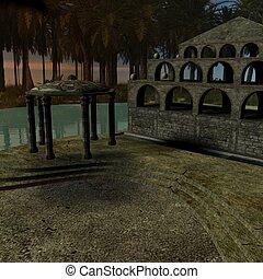 Fantasy Building - 3D Render of an Fantasy Building