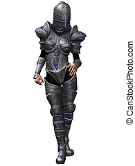 Female Knight - 3D Render of an Female Knight