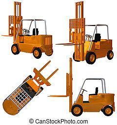 Forklift - 3D Render of an Forklift