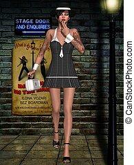 Gangsta Babe - 3D Render of an Gangsta Babe