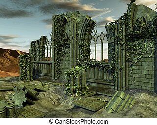 3D Render of an Gothic Background