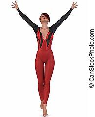 Gymnastic Pose - 3D Render of an Gymnastic Pose