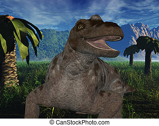 Keratocephalus - 3D Dinosaur - 3D Render of an...