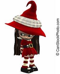 Little Christmas Elf-Toon Figure