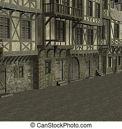Medieval City - 3D Render of an Medieval City