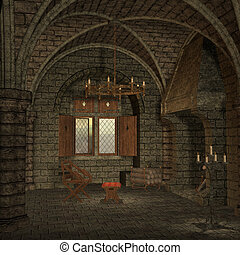 Medieval Place - 3D Render of an Medieval Place