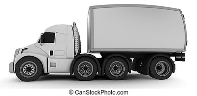 Oversized Cartoon Truck - 3D Render of an Oversized Cartoon...