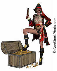 Sexy Pirate - 3D Render of an Sexy Pirate