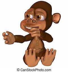 3D Render of an Toon Ape