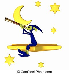 Toon Figure - Little Astronomer