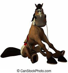 Toon Horse - 3D Render of an Toon Horse