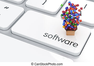 Application software storagel - 3d render of application...