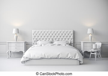 3d render of beautiful bedroom