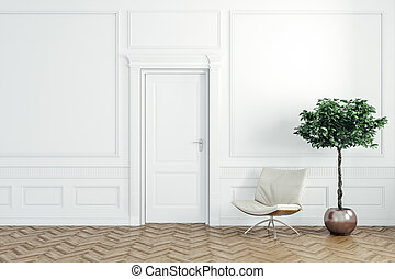 3d render of beautiful  interior
