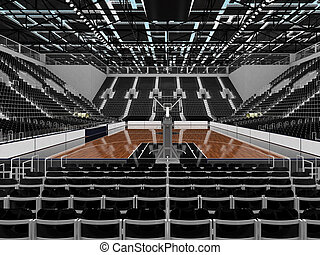 3D render of beautiful sports arena for basketball with...