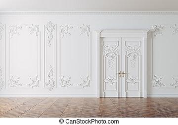 3d render of beautiful vintage interior