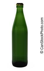 3d render of beer bottle
