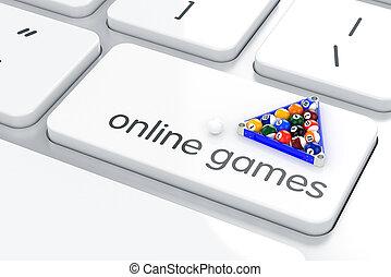 Online games concept
