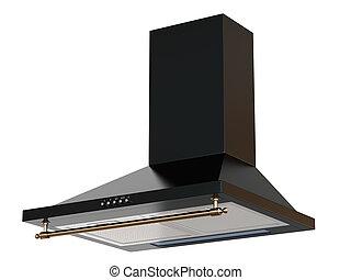 3d render of black hood
