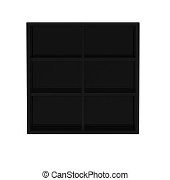 3d render of black shelf