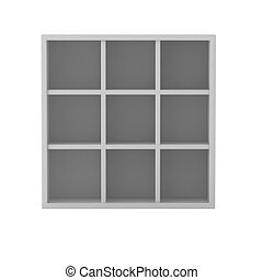 3d render of book shelf