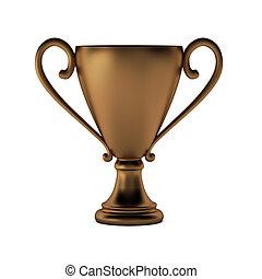 3d render of bronze cup