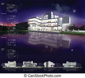 3d render of building - 3d render building