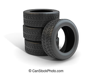 3d Render of Car Tire