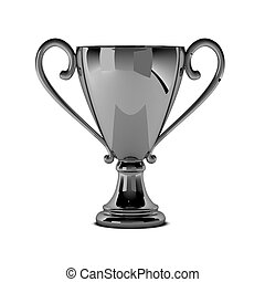 3d render of chrome cup