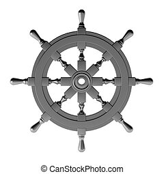 3d render of chrome wheel