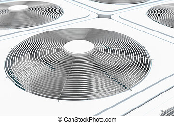 3d render of close up view on HVAC units (heating,...
