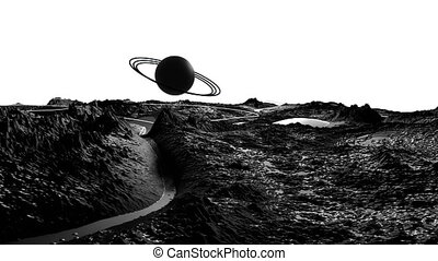 3d render of cosmic landscape as background or environment....