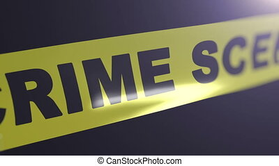 Crime scene tape. Matte channel included. Shallow Depth of...