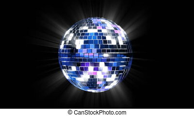 3D render of disco ball reflecting and shining.