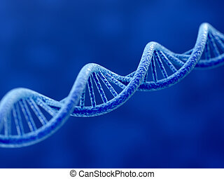 3d render of DNA on blue background
