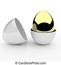 3d render of egg