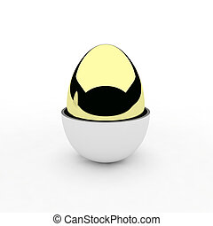 3d render of egg
