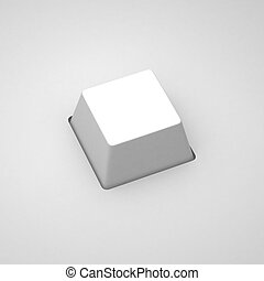 3d render of empty keyboard button