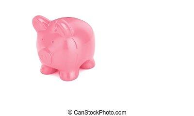 empty piggy bank breaking - 3d render of empty piggy bank...